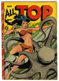 All Top Comics #16 (Fox Features Syndicate, 1949) Condition: FN-. Matt Baker art. Overstreet 2006 FN 6.0 value = $339. F...