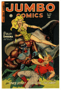 Jumbo Comics #159 Mile High pedigree (Fiction House, 1952) Condition: VF+. Space Scouts serial. Jack Kamen art. Overstre...
