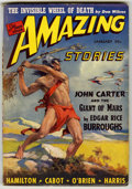 """Pulps:Science Fiction, Amazing Stories Group (Ziff-Davis, 1935) Condition: Average VG/FN.Contains January, 1941 (""""John Carter and the Giants of Ma...(Total: 3 Items)"""