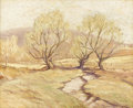 Texas:Early Texas Art - Impressionists, PAUL BERNARD KING (1867-1947). Old Willows in Spring. Oil oncanvas. 16in. x 20in.. Signed lower right. A New York art...