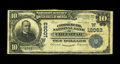 National Bank Notes:Oklahoma, Checotah, OK - $10 1902 Plain Back Fr. 628 The Commercial NB Ch. # (W)10063. A tough Checotah bank which lasted for less...