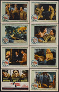 """Movie Posters:War, The Young Lions (20th Century Fox, 1958). Lobby Card Set of 8 (11""""X 14""""). War. Starring Marlon Brando, Montgomery Clift, De...(Total: 8 Items)"""