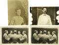 Basketball Collectibles:Others, Early James Naismith Photographs Lot of 4 with HandwrittenNotation. Intriguing collection of four images begins with two i...