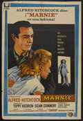 """Movie Posters:Hitchcock, Marnie (Universal, 1964). Argentina One Sheet (29"""" X 43""""). Mystery.Starring Tippi Hedren, Sean Connery, Diane Baker, Martin..."""