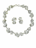 """Estate Jewelry:Necklaces, Crystal, Sterling Silver Jewelry Suite, Mariquita Masterson. Thesuite includes a necklace composed of """"S"""" shaped crystal,...(Total: 2 )"""