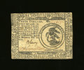 Colonial Notes:Continental Congress Issues, Continental Currency February 26, 1777 $3 About New. Closelymargined, but boldly signed in brown by B(enjamin) Levy. Levy w...