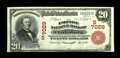 National Bank Notes:West Virginia, Clarksburg, WV - $20 1902 Red Seal Fr. 639 The Empire NB Ch. #(S)7029. This most pleasing and wholly original Red Seal ...