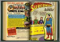 Superman #141-150 Bound Volume (DC, 1960-62). Includes copies of issues #141, 142 (Batman crossover), 143, 144, 145, 146...
