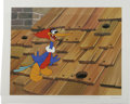"Animation Art:Limited Edition Cel, ""Rooftop Woody Woodpecker"" Hand Painted Cel #198/200 Original Art(Walter Lantz Productions, 1991). Pecking out of a hole in...(Total: 2 Items)"