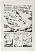 """Original Comic Art:Complete Story, Joe Certa (attributed) - War Battles # 7 Complete 6-page Story """"Windmill to the Rescue"""" Original Art (Harvey, 1953). There's..."""