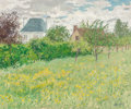 Fine Art - Painting, American:Contemporary   (1950 to present)  , John Modesitt (American, b. 1955). Garden in Notre Damed'Isle. Oil on canvas. 20 x 24 inches (50.8 x 61.0 cm). Signedl...