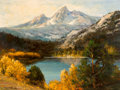Fine Art - Painting, American:Contemporary   (1950 to present)  , Robert William Wood (American, 1889-1979). The Grand Teton.Oil on canvas. 18 x 24 inches (45.7 x 61 cm). Signed lower l...