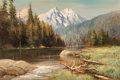 Paintings, Robert William Wood (American, 1889-1979). Tetons and String Lake, 1964. Oil on canvas. 24 x 36 inches (61.0 x 91.4 cm)...