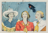 Donna Howell-Sickles (American, b. 1949) Pretty Red Wing, 1993 Lithograph in colors 25-1/2 x 35 i