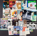Baseball Collectibles:Others, Baseball Greats Signed and Unsigned Mementos Lot of 15+....