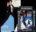 "Movie Posters:James Bond, The Living Daylights (CBS Fox, 1987). VHS Video Standee (59"" X 46""- Assembled). James Bond.. ..."