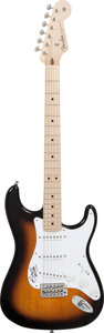Musical Instruments:Electric Guitars, Eric Clapton Owned, Played and Signed 2014 Fender Stratocaster Sunburst Solid Body Electric Guitar, Serial # CZ524487, Weight:...