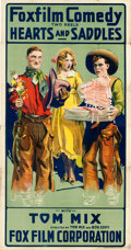 "Movie Posters:Western, Hearts and Saddles (Fox, 1917). Three Sheet (41"" X 82"").. ..."