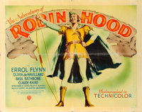 "The Adventures of Robin Hood (Warner Brothers, 1938). Linen Finish Half Sheet (22"" X 28"") Style A"