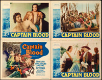 "Captain Blood (Warner Brothers, 1935). Title Lobby Card and Lobby Cards (3) (11"" X 14""). ... (Total: 4 Items)"