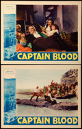 "Movie Posters:Adventure, Captain Blood (Warner Brothers, 1935). Lobby Cards (2) (11"" X14"").. ... (Total: 2 Items)"