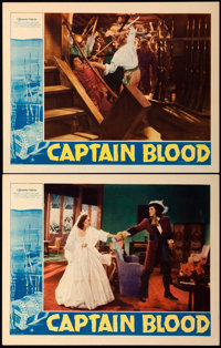 """Captain Blood (Warner Brothers, 1935). Lobby Cards (2) (11"""" X 14""""). ... (Total: 2 Items)"""