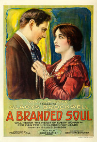 "A Branded Soul (Fox, 1917). One Sheet (28"" X 41"")"