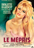 """Movie Posters:Foreign, Le Mepris (Cocinor, 1963). Full-Bleed French Affiche (23.5"""" X 31.5"""").. ..."""