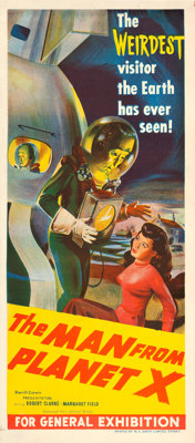 "The Man from Planet X (United Artists, 1951). Australian Post-War Daybill (13"" X 30"")"