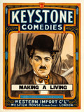 "Movie Posters:Comedy, Making a Living (Keystone/Wesfilm House, 1915). Stock British OneSheet (30"" X 40"").. ..."