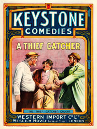 "A Thief Catcher (Keystone/Wesfilm House, 1914). British One Sheet (30"" X 40"")"