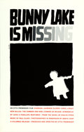 "Movie Posters:Mystery, Bunny Lake is Missing (Art Krebs Screen Studio, 1965). Saul BassSilk-Screen Poster (25"" X 39"").. ..."