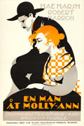"Movie Posters:Comedy, Marriage of Molly-O (Triangle, 1916). Swedish Linocut One Sheet(23.5"" X 35"").. ..."
