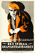 "Movie Posters:Crime, The Stool Pidgeon (Universal Film Manufacturing, 1915). SwedishLinocut One Sheet (23"" X 35"").. ..."