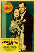 "Movie Posters:Comedy, Three Blind Mice (20th Century Fox, 1938). Poster (40"" X 60"") Photo Gelatin. From the collection of William E. Rea.. ..."
