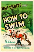 "Movie Posters:Animation, Goofy in How to Swim (RKO, 1942). One Sheet (27"" X 41"").. ..."