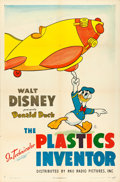 "Movie Posters:Animation, Donald Duck in The Plastics Inventor (RKO, 1944). One Sheet (27"" X41"").. ..."