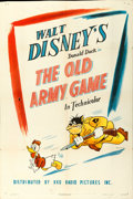"Movie Posters:Animation, Donald Duck in The Old Army Game (RKO, 1943). One Sheet (27"" X41"").. ..."