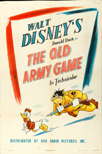 "Donald Duck in The Old Army Game (RKO, 1943). One Sheet (27"" X 41"")"