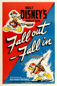 """Donald Duck in Fall Out-Fall In (RKO, 1943). One Sheet (27"""" X 41"""")"""
