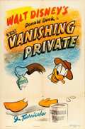 "Movie Posters:Animated, Donald Duck in The Vanishing Private (RKO, 1942). One Sheet (27"" X41"").. ..."