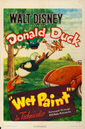 "Movie Posters:Animation, Donald Duck in Wet Paint (RKO, 1946). One Sheet (27"" X 41"").. ..."