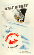 "Movie Posters:Animation, Donald Duck in Commando Duck (RKO, 1944). One Sheet (27"" X 41"")....."