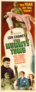 "Movie Posters:Horror, The Mummy's Tomb (Realart, R-1951). Insert (14"" X 36"").. ..."