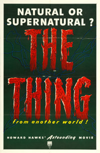 """The Thing from Another World (RKO, 1951). One Sheet (27"""" X 41"""")"""