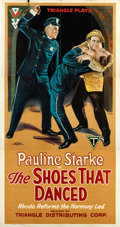 "Movie Posters:Drama, The Shoes That Danced (Triangle, 1918). Three Sheet (41"" X 81"")....."