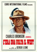 """Movie Posters:Western, Once Upon a Time in the West (Euro International, 1968). Italian 4 - Foglis (2) (55"""" X 78"""") Charles Bronson & Claudia Cardin... (Total: 2 Items)"""