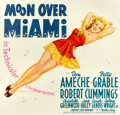 "Movie Posters:Musical, Moon Over Miami (20th Century Fox, 1941). Six Sheet (78.5"" X 82"").. ..."