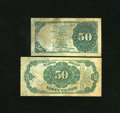 Fractional Currency:Fourth Issue, Fr. 1379 50c Fourth Issue Dexter Fine, spot. Fr. 1380 50c Fifth Issue Fine.. ... (Total: 2 notes)