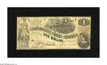 Confederate Notes:1862 Issues, T44 $1 1862. The edges show light handling and a few pinholes arespotted on this snappy Very Good+ note signed by (Miss...